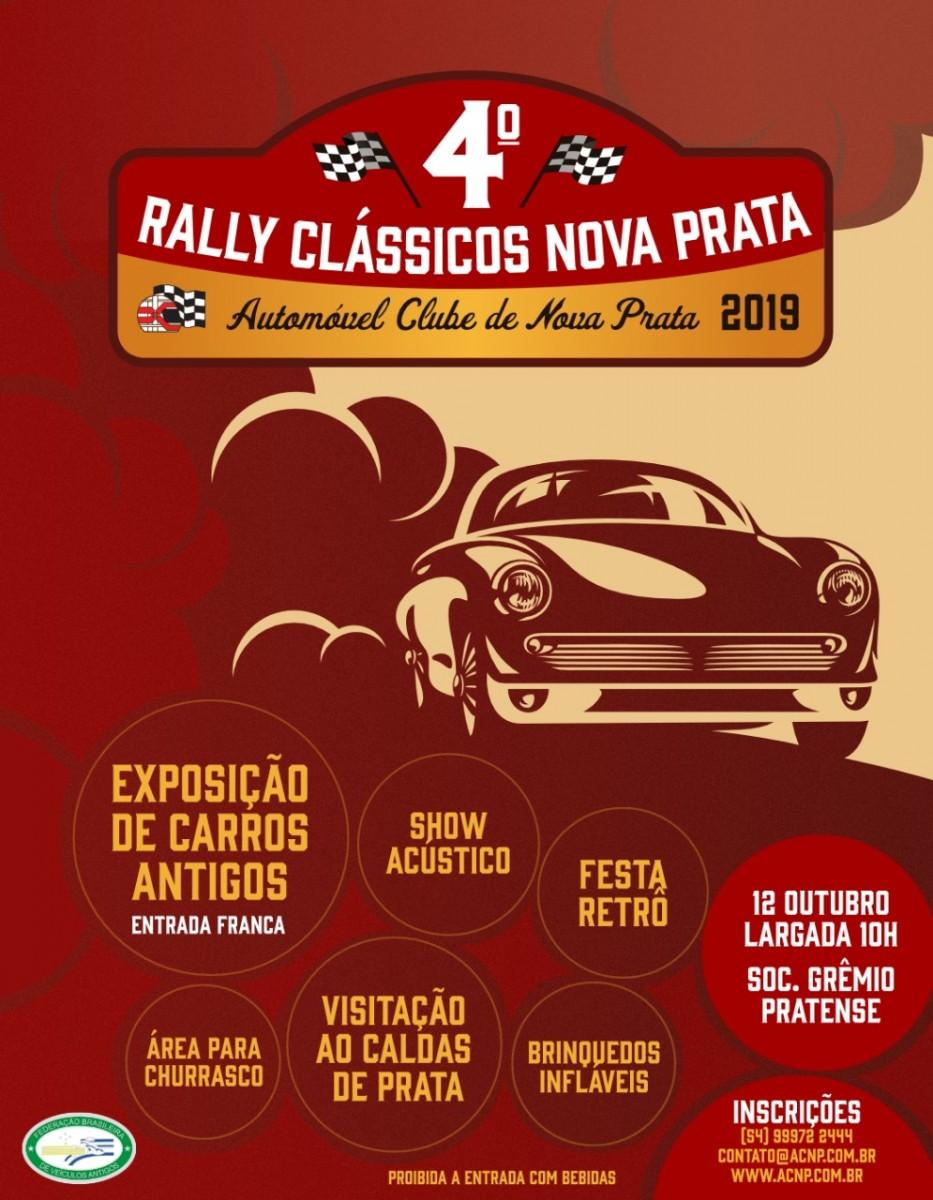 Flyer 4º RALLY CLÁSSICOS NOVA PRATA